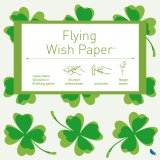 Contento Wunschzettel-Set Flying Wish Paper Mini cloverleaf green